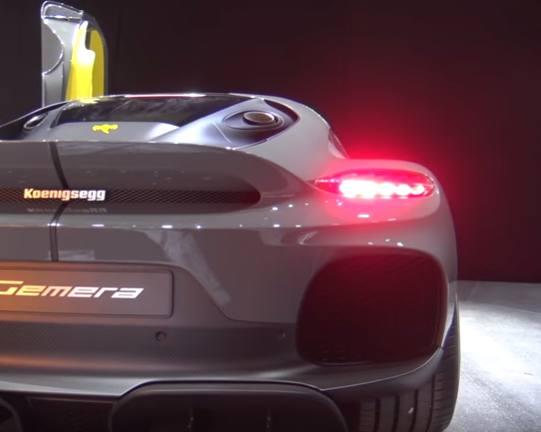 Koenigsegg Gemera posteriore